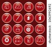 vector gas station car check... | Shutterstock .eps vector #1063992692
