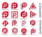 letter p logo. p letter design  ... | Shutterstock .eps vector #1063993172