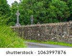 celtic cross headstones in a... | Shutterstock . vector #1063997876