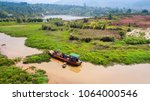 Wooden Boat As Rural Farm And...