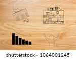 real estate prices and market... | Shutterstock . vector #1064001245