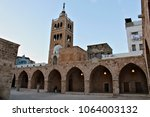 the mansouri great mosque is a... | Shutterstock . vector #1064003132