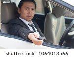 portrait of handsome guy ... | Shutterstock . vector #1064013566