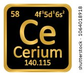 periodic table element cerium... | Shutterstock .eps vector #1064018918