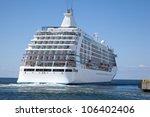 Ship Leaves Port  Smoke Comes...