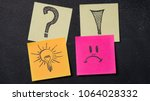 notes with question ... | Shutterstock . vector #1064028332