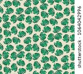 seamless tropical hand drawn... | Shutterstock .eps vector #1064042996