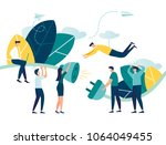 business concept vector... | Shutterstock .eps vector #1064049455