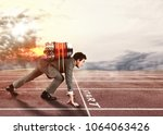 push to reach the goals before... | Shutterstock . vector #1064063426
