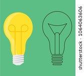 illuminated and not illuminated ... | Shutterstock .eps vector #1064063606