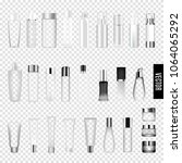 cosmetics skincare empty glass... | Shutterstock .eps vector #1064065292