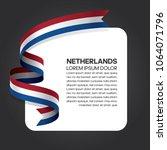 netherlands flag background | Shutterstock .eps vector #1064071796