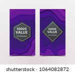gift voucher with technological ... | Shutterstock .eps vector #1064082872