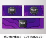 paper cut banners  flyers ... | Shutterstock .eps vector #1064082896
