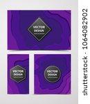 paper cut banners  flyers ... | Shutterstock .eps vector #1064082902