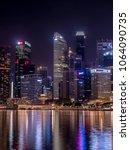 singapore   march  2018  night... | Shutterstock . vector #1064090735