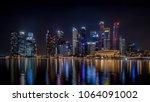singapore   march  2018  night... | Shutterstock . vector #1064091002