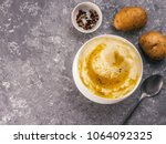 mashed potatoes with spices and ... | Shutterstock . vector #1064092325