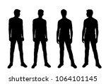 vector silhouettes of men ... | Shutterstock .eps vector #1064101145