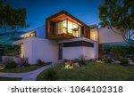 3d rendering of modern cozy... | Shutterstock . vector #1064102318
