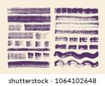 painting brushes set. vector... | Shutterstock .eps vector #1064102648
