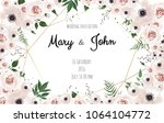 wedding invitation card with...   Shutterstock .eps vector #1064104772