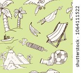 ecuador hand drawn doodle... | Shutterstock .eps vector #1064111522