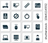 gadget icons set with... | Shutterstock .eps vector #1064114552