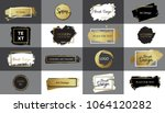 collection of vector black ... | Shutterstock .eps vector #1064120282