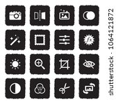 image editing icons. grunge... | Shutterstock .eps vector #1064121872