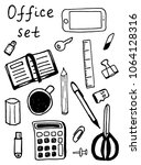 office stationery icons 17... | Shutterstock .eps vector #1064128316