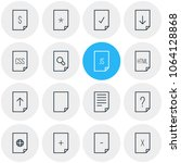 illustration of 16 page icons...