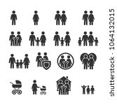 vector image set of family...   Shutterstock .eps vector #1064132015