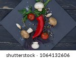 composition from multi colored... | Shutterstock . vector #1064132606