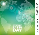 earth day illustration with... | Shutterstock .eps vector #1064136638