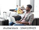 african american businessman... | Shutterstock . vector #1064139425