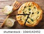 golden organic healthy crispy... | Shutterstock . vector #1064142452