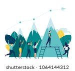 vector illustration business.... | Shutterstock .eps vector #1064144312