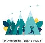 vector illustration business.... | Shutterstock .eps vector #1064144315