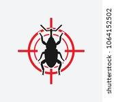 weevil icon red target. vector... | Shutterstock .eps vector #1064152502