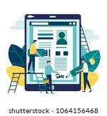 vector business illustration ... | Shutterstock .eps vector #1064156468