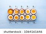 eggs in varying degrees of...   Shutterstock . vector #1064161646