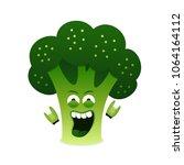 happy rock n roll broccoli... | Shutterstock .eps vector #1064164112