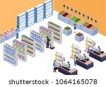 isometric 3d illustration...   Shutterstock . vector #1064165078