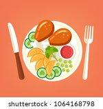 fresh tasty grilled roasted... | Shutterstock .eps vector #1064168798