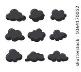 storm clouds set icons vector... | Shutterstock .eps vector #1064170052