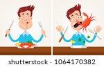 happy smiling man gourmet... | Shutterstock .eps vector #1064170382
