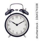 white background  clock alarm... | Shutterstock . vector #1064174108