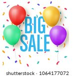 big sale design with balloons... | Shutterstock .eps vector #1064177072