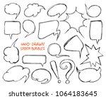 hand drawn speech bubbles | Shutterstock .eps vector #1064183645